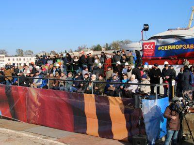 На Севморзаводе торжественно закложили плавучий кран «ПК-400 «Севастополь» (ФОТО)